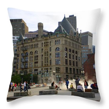 Summer Afternoon In Boston Throw Pillow by Dora Sofia Caputo Photographic Art and Design
