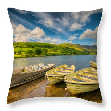 Summer Boating Throw Pillow by Adrian Evans