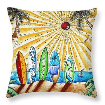 Summer Break By Madart Throw Pillow by Megan Duncanson