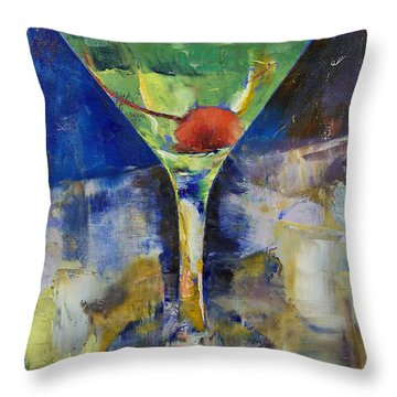 Summer Breeze Martini Throw Pillow by Michael Creese