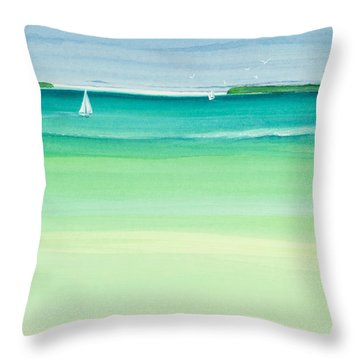 Summer Breeze Throw Pillow by Michelle Wiarda