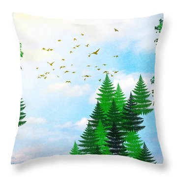 Summer Four Seasons Art Series Throw Pillow by Christina Rollo