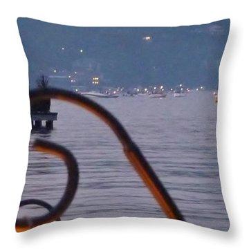Summer Lake Twinkles Throw Pillow by Susan Garren