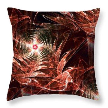Summer Night Throw Pillow by Anastasiya Malakhova