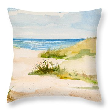 Summer On Cape Cod Throw Pillow by Michelle Wiarda