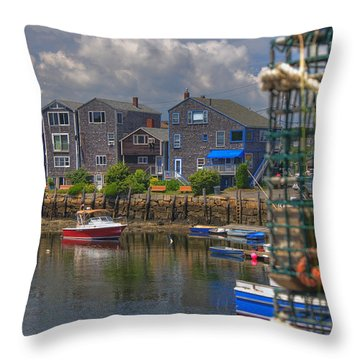 Summer On The Harbor Throw Pillow by Joann Vitali