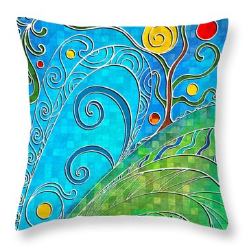 Summer Solstice Throw Pillow by Shawna Rowe