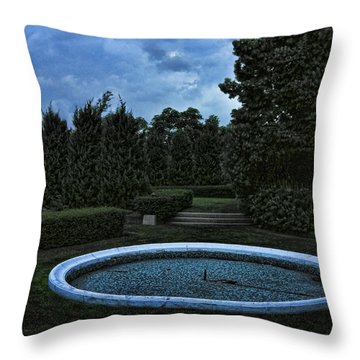 Summer Storm Coming Bahai Temple Throw Pillow by John Hansen