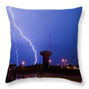 Summer Storm Throw Pillow by Jim Finch