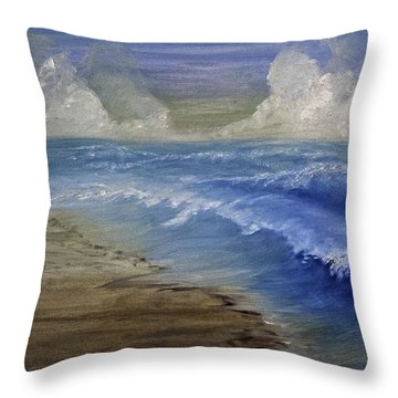Summer Surf Throw Pillow by Judy Hall-Folde
