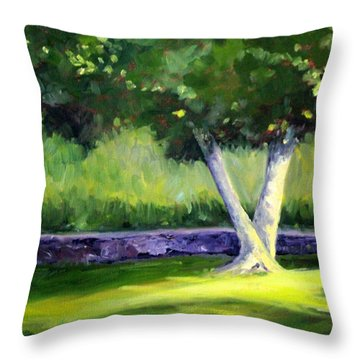 Summer Tree Throw Pillow by Nancy Merkle
