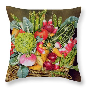 Summer Vegetables Throw Pillow by EB Watts