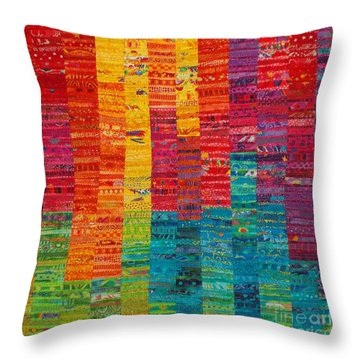 Summer Vibrations Throw Pillow by Susan Rienzo