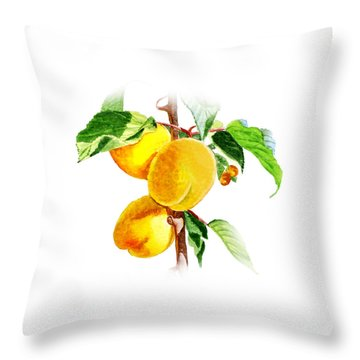 Sun Kissed Apricots Throw Pillow by Irina Sztukowski