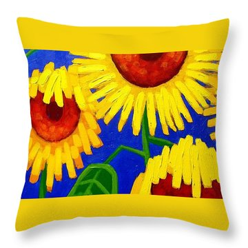 Sun Lovers Throw Pillow by John  Nolan