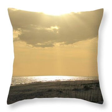 Sun Rays Throw Pillow by Cynthia Guinn