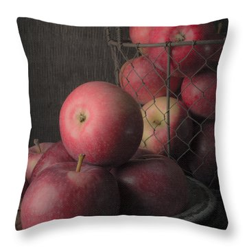 Sun Warmed Apples Still Life Standard Sizes Throw Pillow by Edward Fielding