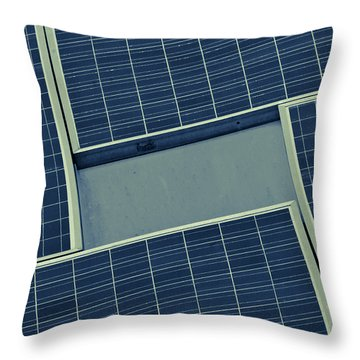Sun Worshiper Blue Throw Pillow by Christi Kraft