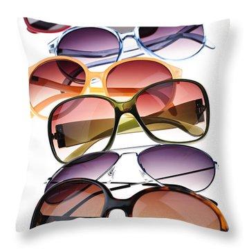 Sunglasses Throw Pillow by Elena Elisseeva