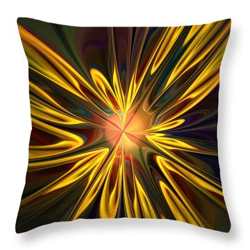 Sunglow Throw Pillow by Anastasiya Malakhova