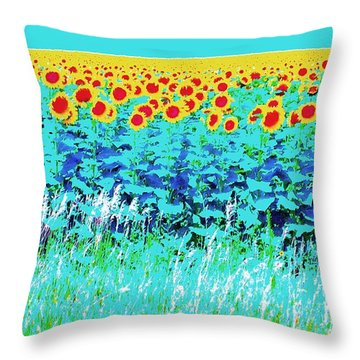 Sunny Kansas Throw Pillow by Ann Johndro-Collins