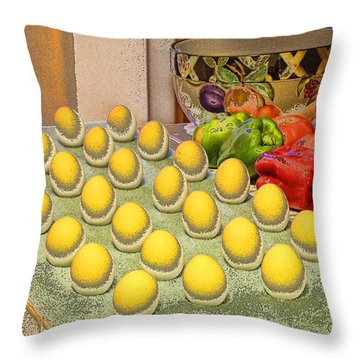 Sunny Side Up Throw Pillow by Chuck Staley