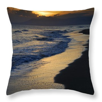 Sunrays Over The Sea Throw Pillow by Guido Montanes Castillo