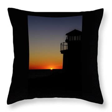 Sunrise Abstract Throw Pillow by Joy Bradley