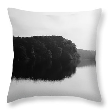 Sunrise Along The River Throw Pillow by Debra Forand