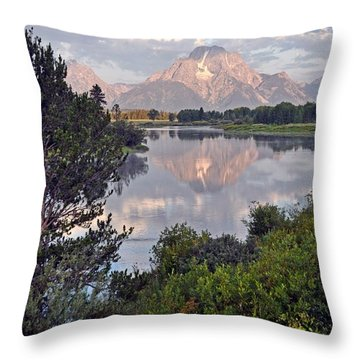 Sunrise At Oxbow Bend 3 Throw Pillow by Marty Koch