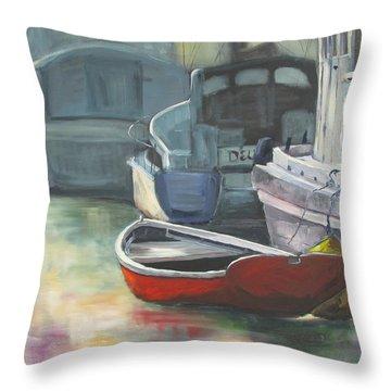 Sunrise At Ten Foot Hole Throw Pillow by Susan Richardson