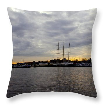 Sunrise In Amsterdam Throw Pillow by Pravine Chester