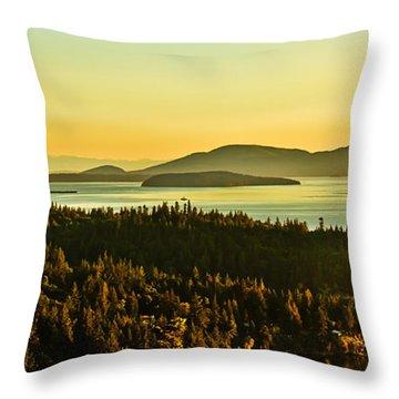 Sunrise Over Bellingham Bay Throw Pillow by Robert Bales
