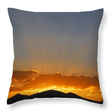 Sunrise Over Mountains Throw Pillow by Robert Preston