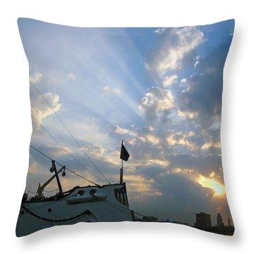 Sunrise Over Philadelphia  Throw Pillow by Shoal Hollingsworth