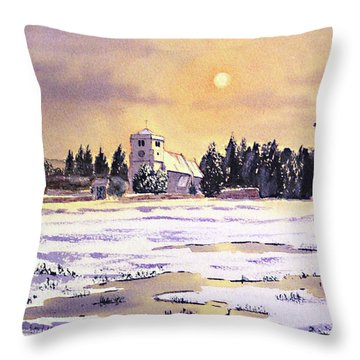 Sunrise Over St Botolph's Church Throw Pillow by Bill Holkham