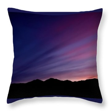 Sunrise Over The Mountains Throw Pillow by Rona Black