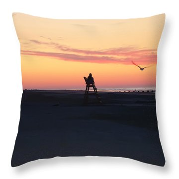 Sunrise Solitude Throw Pillow by Bill Cannon