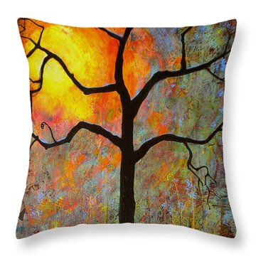 Sunrise Sunset Throw Pillow by Blenda Studio