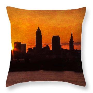 Sunrise Through The City Throw Pillow by Dale Kincaid