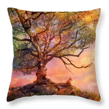Sunset At Fox Mountain Throw Pillow by Aimee Stewart