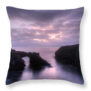 Sunset At Mendocino Throw Pillow by Bob Christopher