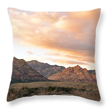 Sunset Canyon Drive Throw Pillow by Aron Kearney