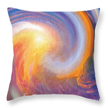 Sunset Illusions Throw Pillow by Sara  Raber