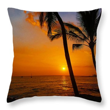 Sunset In Paradise Throw Pillow by Athala Carole Bruckner