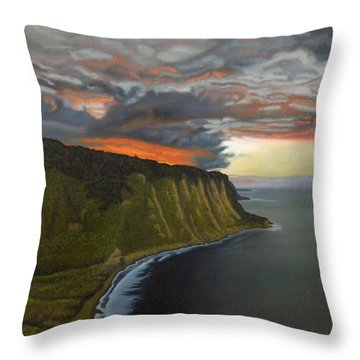 Sunset In Paradise Throw Pillow by Thu Nguyen