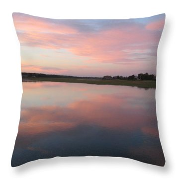 Sunset In Pink And Blue Throw Pillow by Melissa McCrann