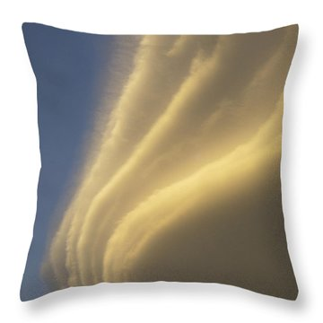 Sunset On Storm Clouds Near Mt Cook Throw Pillow by Ian Whitehouse