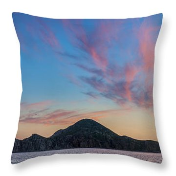 Sunset Over Cabo Throw Pillow by Sebastian Musial