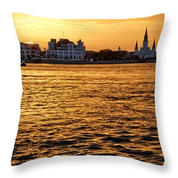 Sunset Over New Orleans Throw Pillow by Patricia Sanders